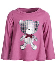 Baby Girls Plaid Bear Cotton T-Shirt, Created for Macy's