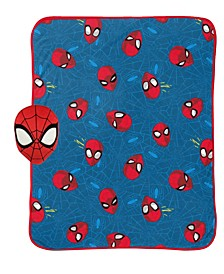 Spiderman Travel Pillow and Blanket Nogginz Set