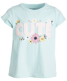 Baby Girls Short Sleeve Cute Tee, Created for Macy's