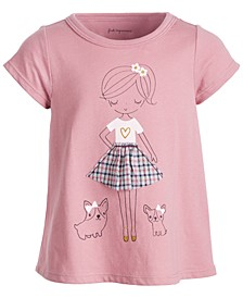 Baby Girls Short Sleeve Town Girl Tee, Created for Macy's