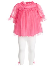 2-Pc. Baby Girls Tulle Tunic & Leggings Set, Created for Macy's