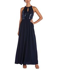 Juniors' Sequin Gown