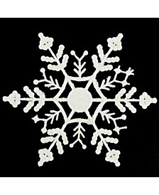 12 Count Glitter Snowflake Christmas Ornaments