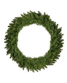 Pre-Lit Eastern Pine Artificial Christmas Wreath-Clear Lights