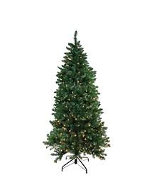Pre-Lit Slim Eastern Pine Artificial Christmas Tree