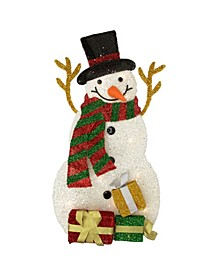 Lighted Snowman with Gis Outdoor Christmas Decoration