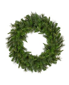 Unlit Canyon Pine Mixed Artificial Christmas Wreath