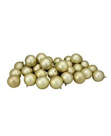 32 Count Shatterproof Matte Christmas Ball Ornaments