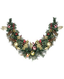 Foliage Pinecones and Berries Artificial Christmas Garland-Unlit