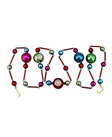 Glass Bead with Retro Reflector Ornament Christmas Garland