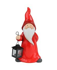 Whimsical Santa Claus Gnome with Lantern Christmas Figure