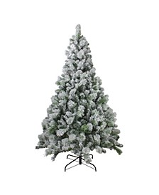 Flocked Somerset Spruce Artificial Christmas Tree-Unlit