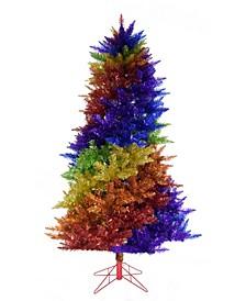 6.5' Rainbow Swirl Christmas Tree