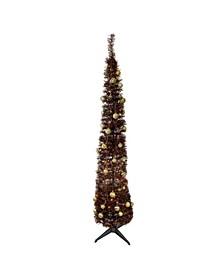 Pre-Lit Pop-Up Artificial Christmas Tree