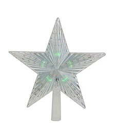 Lighted Clear Crystal Star Christmas Tree Topper