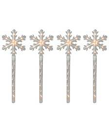 Snowflakes Christmas Pathway Marker with Lawn Stakes