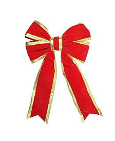 Giant 3D 4-Loop Velveteen Christmas Bow with Trim