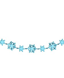 Shiny Snowflakes Beaded Christmas Garland-Unlit