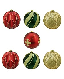7 Count and Shatterproof 3-Finish Christmas Ball Ornaments