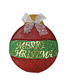 LED Lighted Merry Christmas Ornament Hanging Wall Decoration