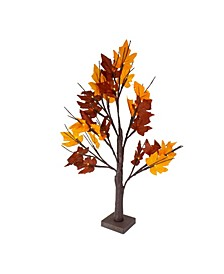 Pre-Lit LED Maple Artificial Christmas Tree- Clear Lights