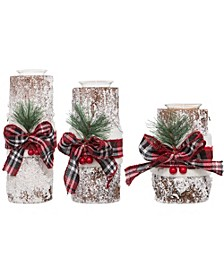Holiday s/3 Bark Tealights