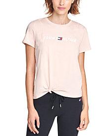 Tommy Hilfiger Sport Side-Knot Logo Print T-Shirt