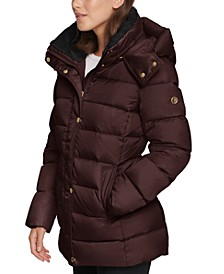 Hooded Faux-Fur-Lined Down Puffer Coat, Created for Macy's
