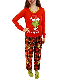 Matching Girls Grinch 3pc Family Pajama Set