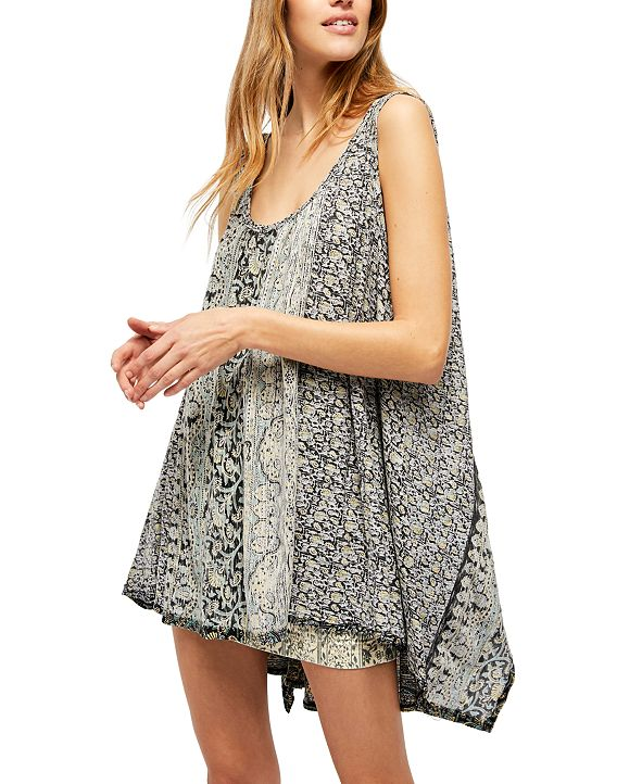 Free People Mess Around Printed Oversized Tunic