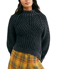 Sweetheart Cotton Mock-Neck Sweater