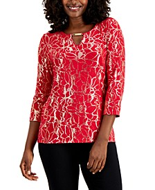 Metallic Embroidered Top, Created for Macy's