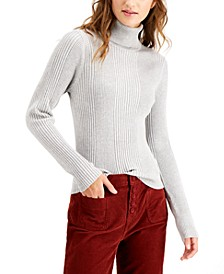 Juniors' Ribbed Turtleneck Sweater