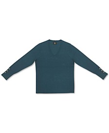 Button-Cuff Pullover Sweater, Created for Macy's