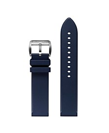Men's Flat Edged Navy Rubber Strap 22mm