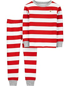 Toddler Boy or Girl 2-Piece Christmas Thermal PJs