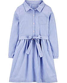 Big Girl  Chambray Shirt Dress