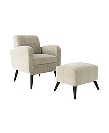 Thom's Arm Chair and Ottoman Set