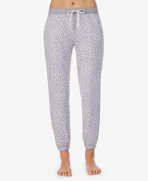 DKNY Leopard-Print Sleep Jogger Pants