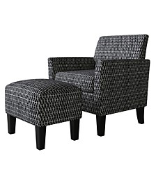 Marquee Half Round Arm Chair and Ottoman Set