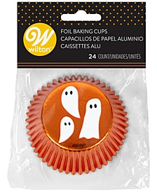 Halloween Ghosts Standard Foil Baking Cups, Set of 24
