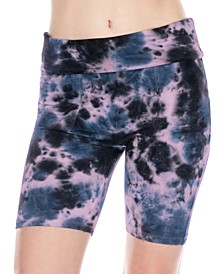Daze Off Tie Dye Printed Biker Shorts