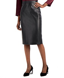 Faux Leather Pencil Skirt, Created for Macy's