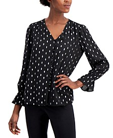 Foil-Print Top, Created for Macy's