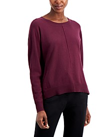 Seam-Front Sweater, Created for Macy's