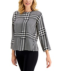 Houndstooth Top, Created for Macy's