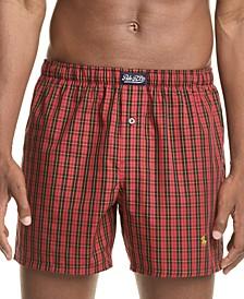 Men's Plaid Woven Cotton Boxers