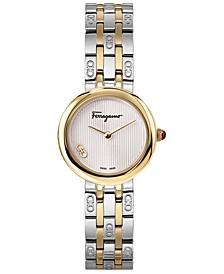 Women's Swiss Forever Two-Tone Stainless Steel Bracelet Watch 28mm