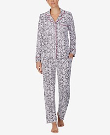 Women's Printed Soft-Knit Pajamas Set