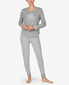 Double-Knit Striped Pajamas Set